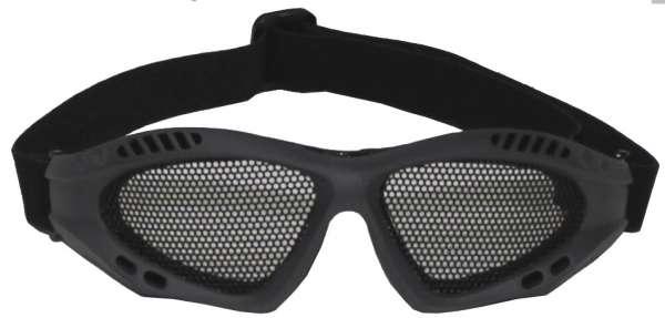 Airsoftbrille oliv Metall-Gittereinsatz Deko