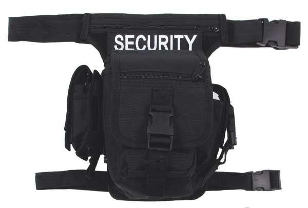 """Hip Bag """"SECURITY"""" schwarz Bein- und Gürtelbefestigung"""