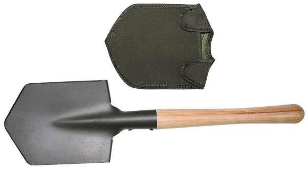 Feldspaten Holzstiel extra stabil mit Tasche