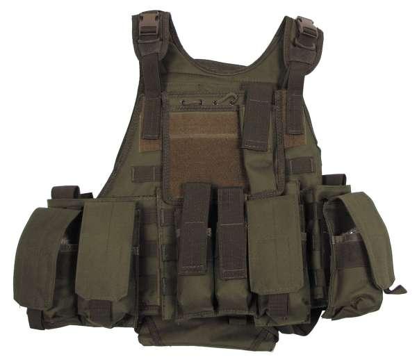 """Weste """"Ranger"""" mit div. Taschen Modular System oliv"""