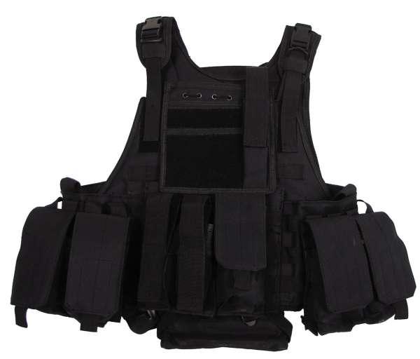 """Weste """"Ranger"""" mit div. Taschen Modular System schwarz"""