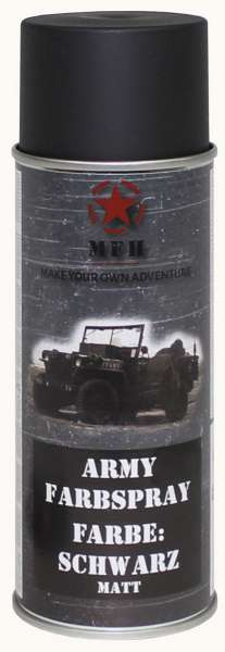 "Farbspray ""Army"" SCHWARZ matt 400 ml"