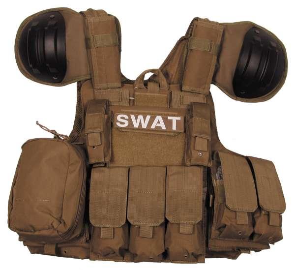 """Weste """"Combat"""" mit div. Taschen coyote"""