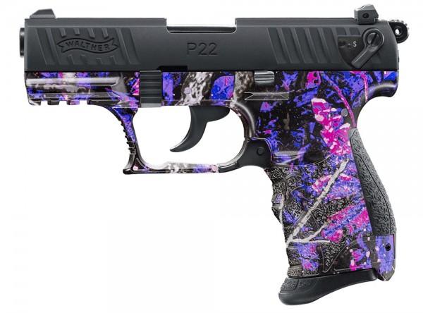 Walther P22Q Schreckschuss Pistole 9 mm P.A.K. Muddy Girl Camo